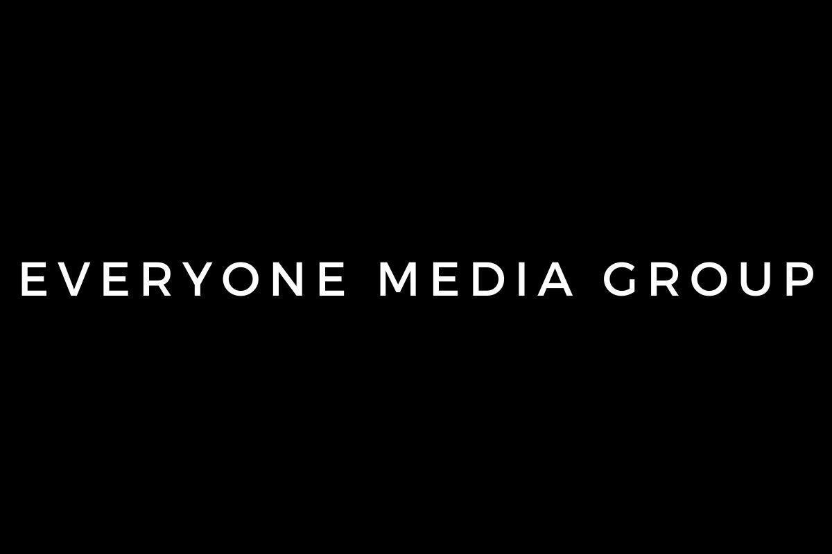 Everyone Media Group logo with a black background.